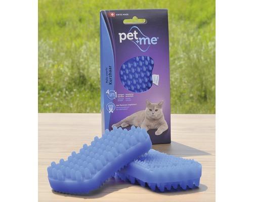 Brosse pour chats Pet + me Poil ras, bleue