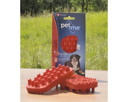 Brosse pour chiens Pet + me Poil long, rouge
