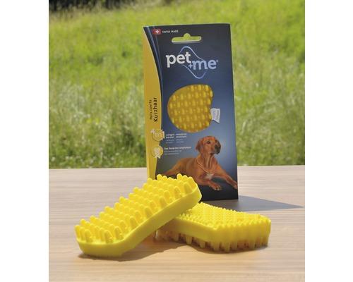 Brosse pour chiens Pet + me Poil ras, jaune