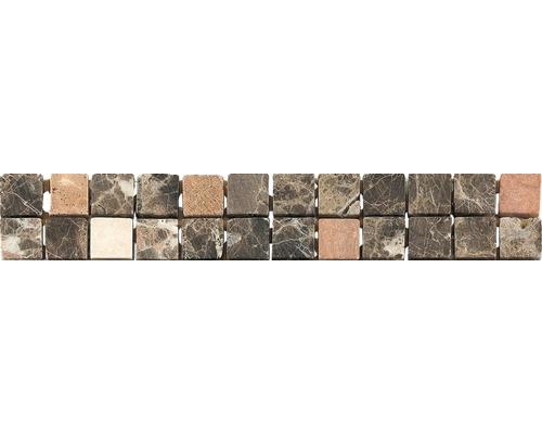 Bordure en marbre CM-57100, marron, 30,5 x 4,9 cm