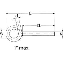 Crochets de plafond modèle sinueux avec écrou 12x160 mm 5 unités-thumb-1