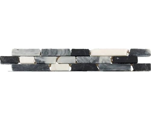 Bordure en marbre CM-57103, anthracite, 30,5 x 4,9 cm