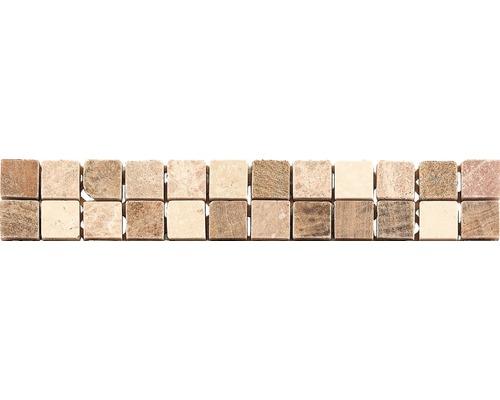 Bordure en marbre CM-57106, marron, 30,5 x 4,9 cm