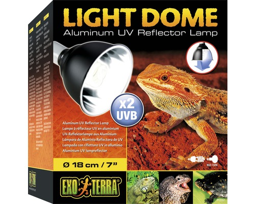 Réflecteur UV Exo Terra aluminium, 18 cm