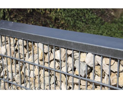 Profilé de recouvrement pour set de clôture de pierres 200 cm