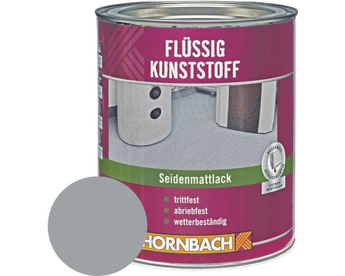Plastique liquide mat satiné RAL 7001 gris argent 750ml