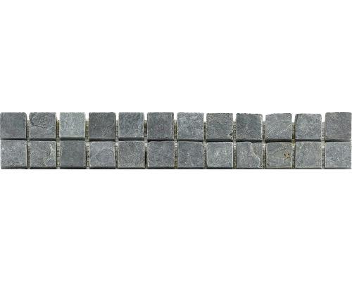 Bordure en pierre naturelle CM-57114, anthracite, 30,5 x 4,8 cm