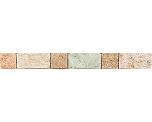 Bordure en pierre naturelle CM-57111, gris, 30,5x3,3 cm