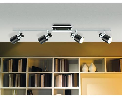 Spot LED Davida 4x5W/GU10 chrome/noir