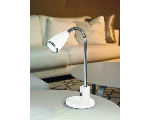 Lampe de bureau LED 1x3W 200 lm 3000 K blanc chaud H 320 mm Fox blanc/chrome