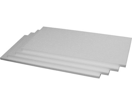 Panneau d''isolation acoustique en polystyrène PSE DES bords arrondis, conductivité thermique 045 1000 x 500 x 20 mm (1 pce = 0,5 m² 1 paquet = 11 m²)