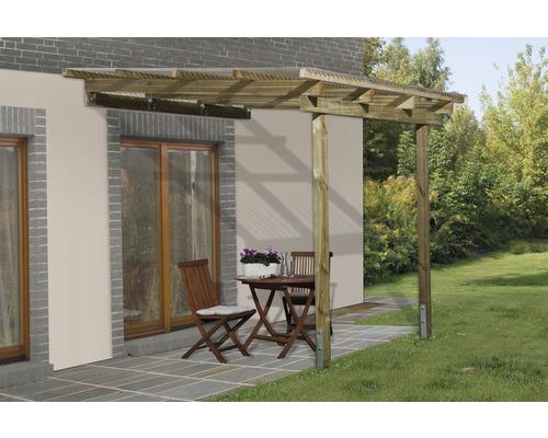 Toiture pour terrasse, weka Lucarno taille A 300x250cm, imprégnée par immersion