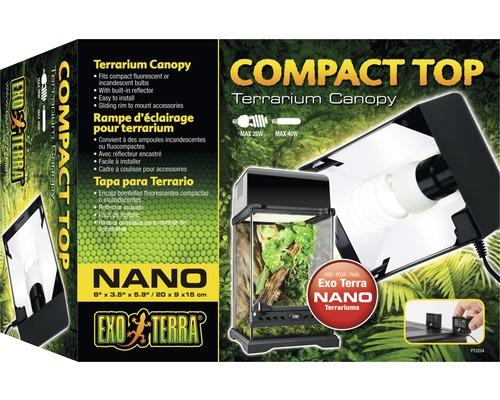 Couvercle Compact Top Exo Terra, Nano 20x9x15 cm