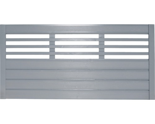 Clôture basse Style 180x90 cm, grise