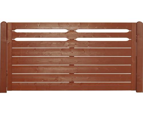 Clôture basse Ground 180x90 cm, brune