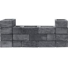 Pierre de construction iBrixx System brique pleine quartzite 50x25x20cm-thumb-2