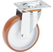 Roulette en polyamide Ø125x35mm avec une plaque-thumb-0