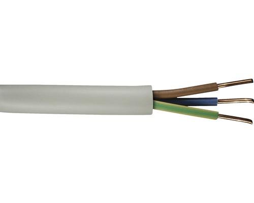 Câble électrique sous gaine NYM-J 3x1.5mm², 20m gris
