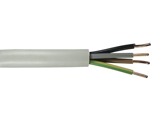 Câble électrique sous gaine NYM-J 4x1.5mm², 20m gris