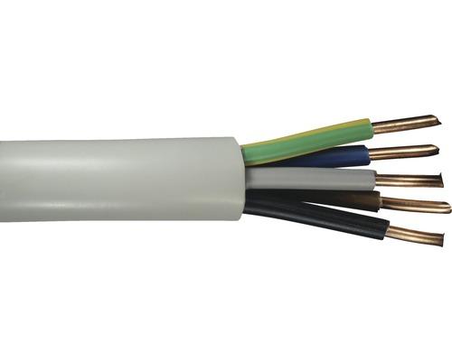 Câble sous gaine NYM-J 5x4 mm² gris, marchandise au mètre sur mesure disponible dans votre magasin Hornbach