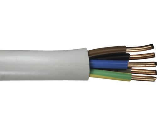 Câble sous gaine NYM-J 5x6 mm² gris, marchandise au mètre sur mesure disponible dans votre magasin Hornbach