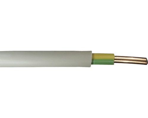 Câble sous gaine NYM-J 1x10 mm² gris, marchandise au mètre sur mesure disponible dans votre magasin Hornbach