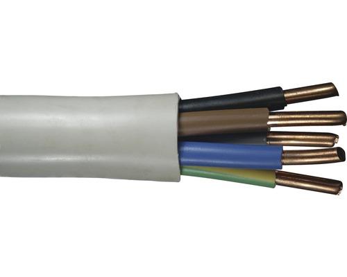 Câble sous gaine NYM-J 5x10 mm² gris, marchandise au mètre sur mesure disponible dans votre magasin Hornbach