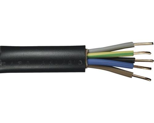 Câble souterrain NYY-J 5x1,5mm² 50m noir