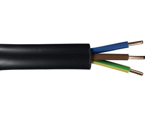 Câble souterrain NYY-J 3x2.5mm², 25m noir