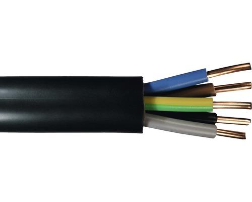Câble souterrain NYY-J 5x4 mm² noir, marchandise au mètre sur mesure disponible dans votre magasin Hornbach