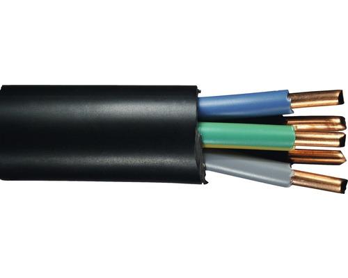Câble souterrain NYY-J 5x10 mm² noir, marchandise au mètre sur mesure disponible dans votre magasin Hornbach
