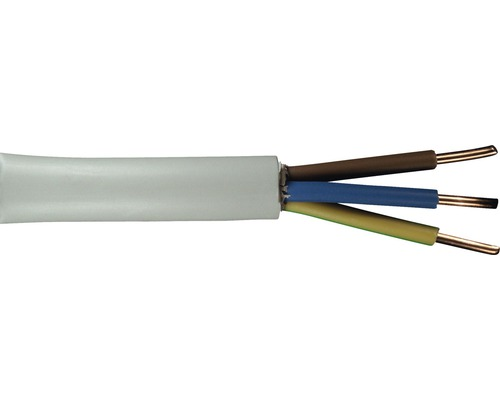Câble électrique sous gaine NYM-J 3x2.5mm², 20m gris