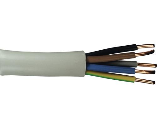 Câble électrique sous gaine NYM-J 5x2.5mm², 20m gris