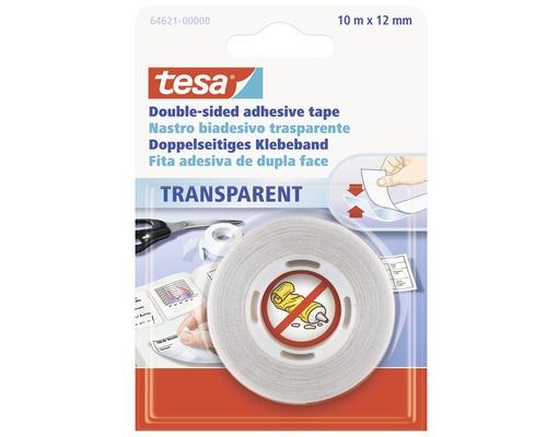 Ruban adhésif double face tesa transparent 10 m x 12 mm