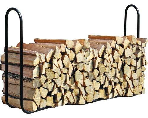 Patin d''empilage de bois de cheminée 244x25x98.9 cm