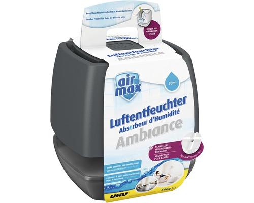 UHU air max Déshumidificateur d'air anthracite 500 g