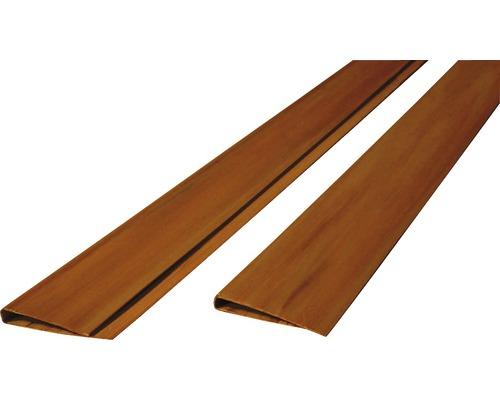 Profilé de recouvrement PVC en U 200x4.5 cm, teck