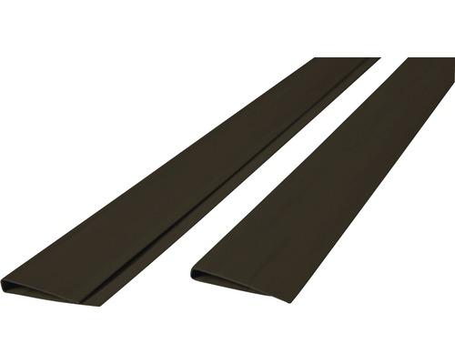 Profilé de recouvrement PVC en U 200x4.5 cm, anthracite