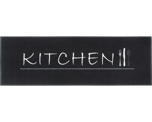 Tapis de cuisine Cook&Wash Kitchen noir 50x150 cm