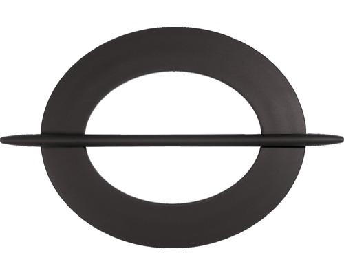 Support de drapage ovale marron foncé