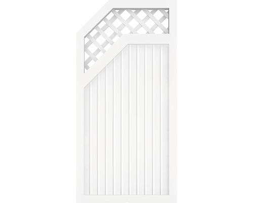 Élément de fermeture BasicLine Type E à gauche 90x180 cm, blanc