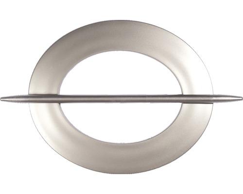 Support de drapage ovale argent-mat