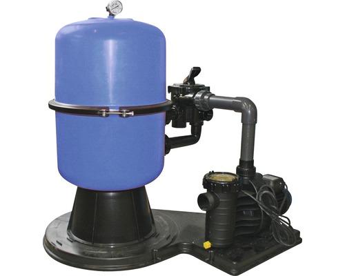 Système de filtre à sable 8 m³/h, avec une cuve divisée