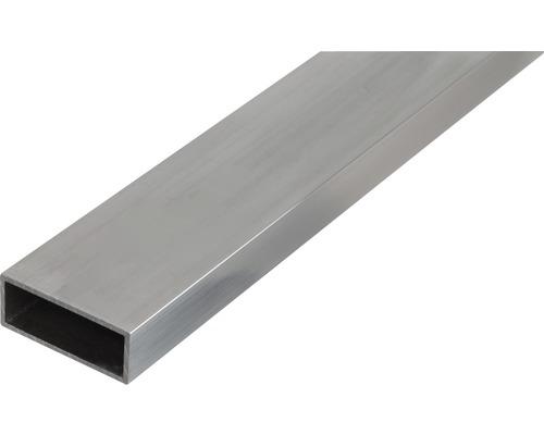 Tube rectangulaire en aluminium 50x20x2mm, 2m