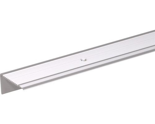 Profilé d''escalier en aluminium argent 45x23mm, 2m