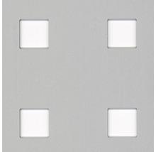 Tôle perforée en aluminium argenté 250x500x0,8 mm perforation carrée-thumb-0
