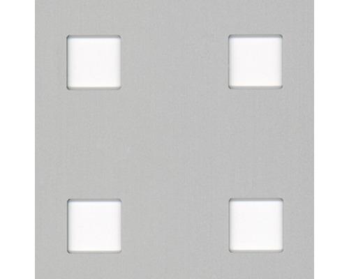 Tôle perforée en aluminium argenté 250x500x0,8 mm perforation carrée