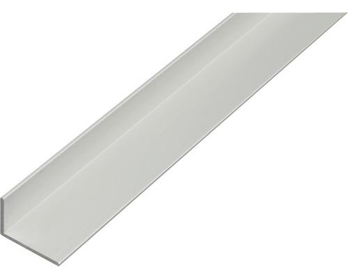 Profilé d'angle en aluminium argenté 40x20x2mm, 2m