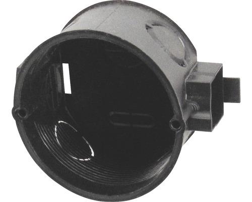 Boîtier d''interrupteurs combiné plat Ø 60 x P 40 mm noir 25 pièces