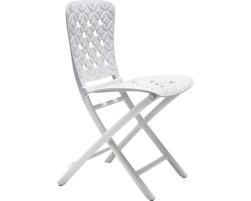 Chaise de jardin Nardi Zac pliante plastique 51x45x84 cm, blanche ...